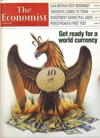 This magazine cover is from 1988 and features the bitcoin logo on a coin with the year 2018 stamped on it. Weird.