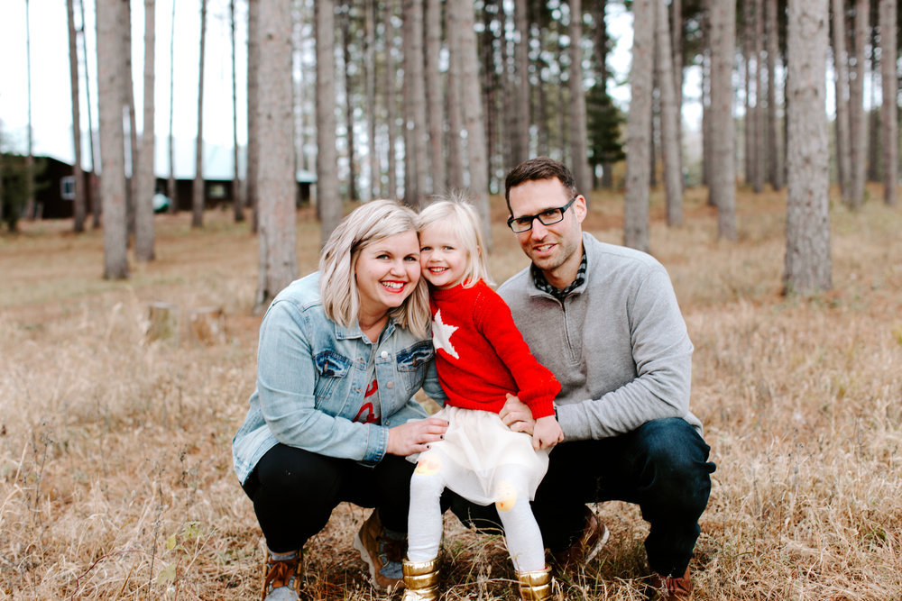 hi friends! - this is me, my husband chris and our 4 yr old trouble maker quinn.