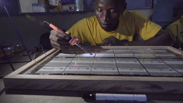 Samuel Tougma, solar training -Koupela, Burkina Faso