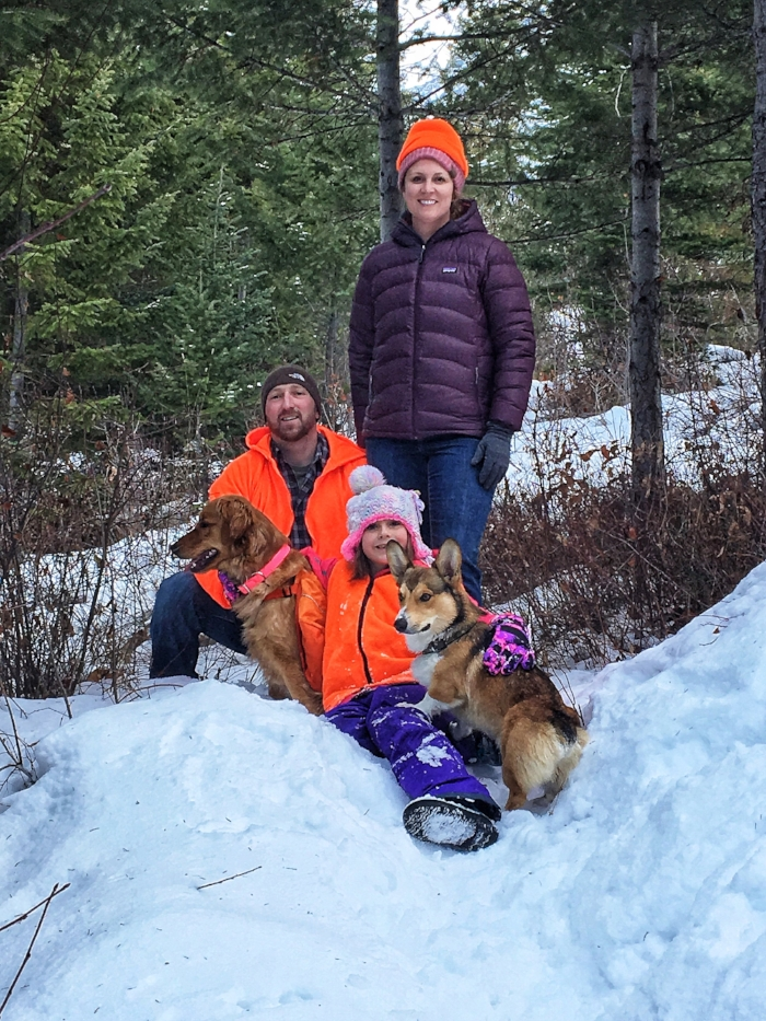 ignore the fact that I am wearing two hats - including the ugly orange one. hunting season.