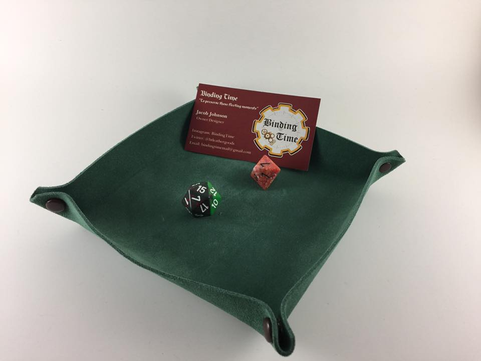 Handmade Leather Portable Dice Tray – Binding Time
