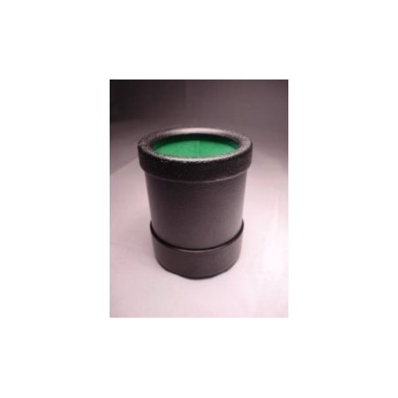 Dice Cup – Koplow Games / koplowgames.com  When your dice are being difficult, it's nice to have an alternative mode of delivering your devastating attacks. This hard plastic dice cup from Koplow Games features a handsome green lining and black plastic shell that won't break when you throw it across the room in frustration.