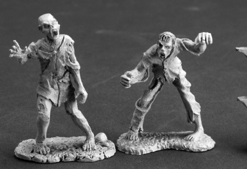 Billy and Earnest Zombies – Reaper Miniatures / reapermini.com  As you'll find in the adventure, our Wight has a couple of friends he appropriated when adventurer seekers met their fate at the hands of the undead fiend. Also from the Dark Heaven Legends series, these zombies are highly detailed metal minis that are ready to shamble and set on taking out anyone who tries to invade their lair.