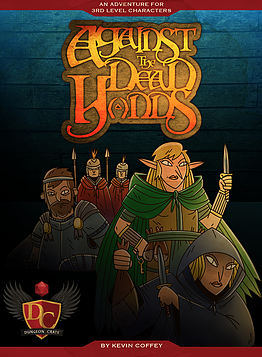 Against the Dead Hands Adventure – Dungeon Crate  The Dead Hands have made a big score, and they're ready to celebrate. Impressed with your deeds, a young Lord asks you to investigate the thieves, disrupt their celebration and recover what they've stolen.  This is the second Dungeon Crate adventure in the Xander Series by Kevin Coffey. Designed for 3rd level characters, this adventure can be easily used with most roleplay systems.