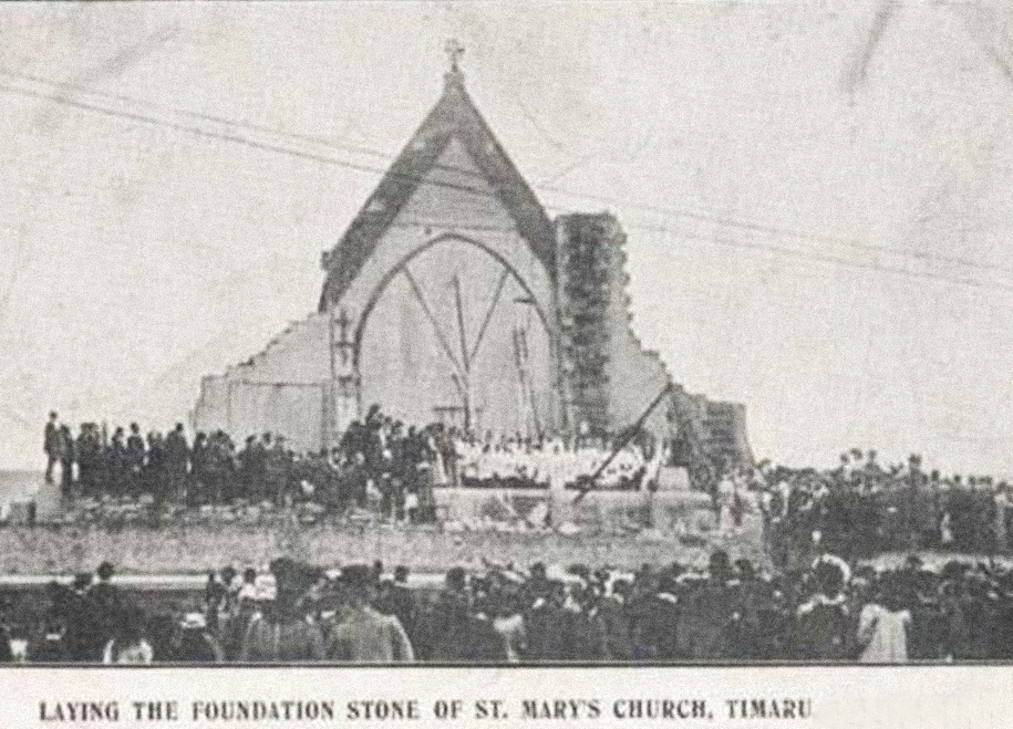 1880-86:  New Construction - By 1877 the congregation outgrew the church, and it was decided to erect an entirely new building.  The foundation stone was laid in 1880, and the new church, filled to overflowing with eager parishioners, opened in August 1886.