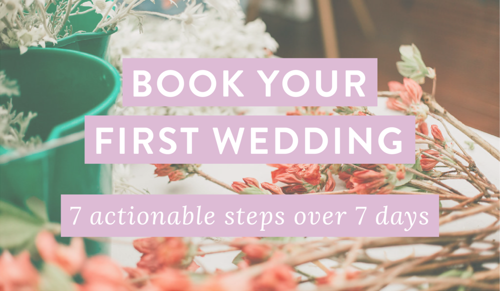 Grab Your Freebie. - Learn how to score your first wedding client... We've created a free email course to help you get started!