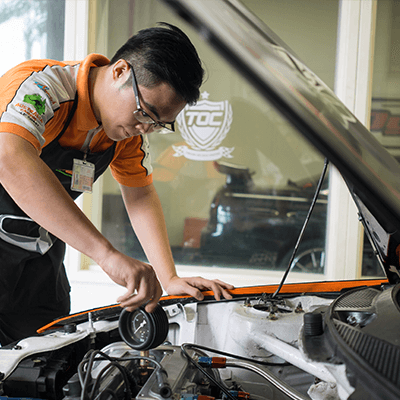 SIJIL KEMAHIRAN MALAYSIA (SKM) Level 2 & 3 - Ever get told that you're better with your head inside the hood of a car than in books? Be an expert at the repair, service, maintenance and diagnostics of cars with this course.