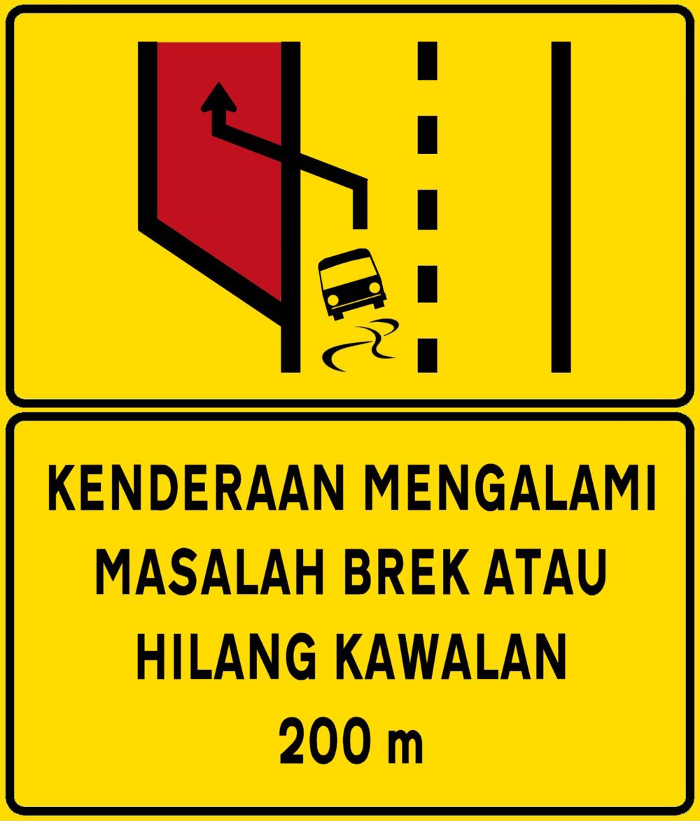 Source:  https://upload.wikimedia.org/wikipedia/commons/b/b3/Kenderaan_mengalami_masalah_brek_dan_hilang_kawalan_200_m.png