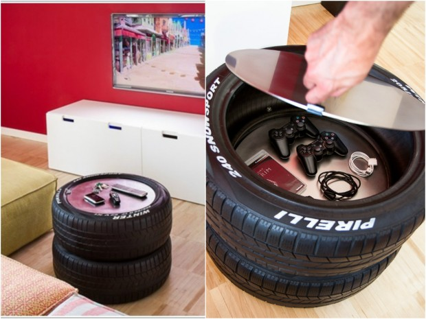 We've done chairs, how about tables? Make it a tire-themed house!
