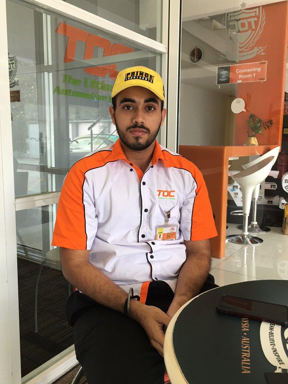 TOC学生Ishwinder Singh