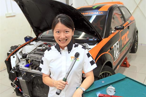 Adelaine Foo, founder and CEO of the Otomotif College. Source: The Star Online