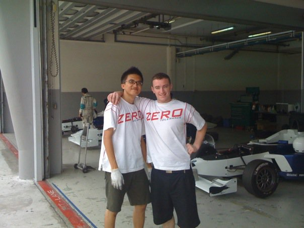 Photo:Combining work with his life long passion, Goh got to travel to various countries to participate in motorsports events and meet different people from all over the world like his colleague, fellow race mechanic Adam Bell from England.