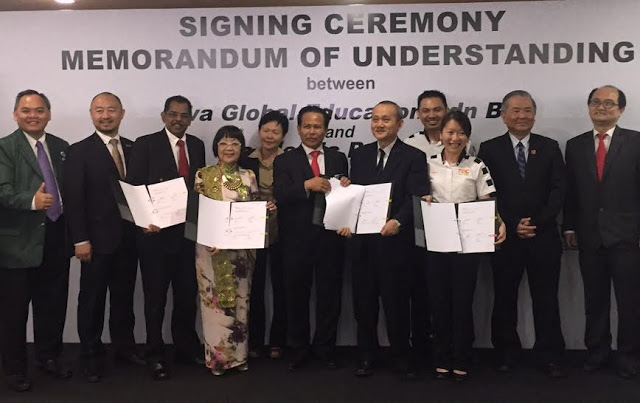 Academic Partners from UCSI University, Clara International Aesthetic College, TOC Automotive College and Tunku Abdul Rahman University College  in a group photo after the MoU Sigining Ceremony with Viva Global Education.    Source:   Motoring-Malaysia