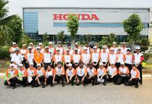Group photo at Honda's Manufacturing Plant in Alor Gajah.  Image source:  Honda Malaysia