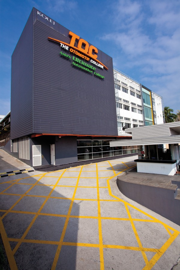 TOC's cutting edge campus strategically located in Petaling Jaya, Selangor.  Image from:  zerotohundred.com