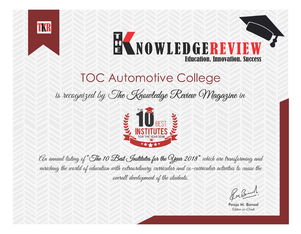 GLOBALLY RECOGNISED AUTOMOTIVE COLLEGE