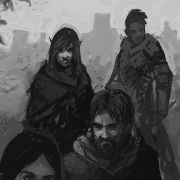 Work in progress on another painting for Driftwood Archives, more info in the bio! Done on twitch last night... I paint live most weeknights! . . . #photoshop #painting #conceptart #fantasyart #illustration #dark #darkart #fantasy #instaart #instaartist #oc #driftwoodarchives #twitch #art #artwork #digitalart #dungeonsanddragons #5e #adventures #party
