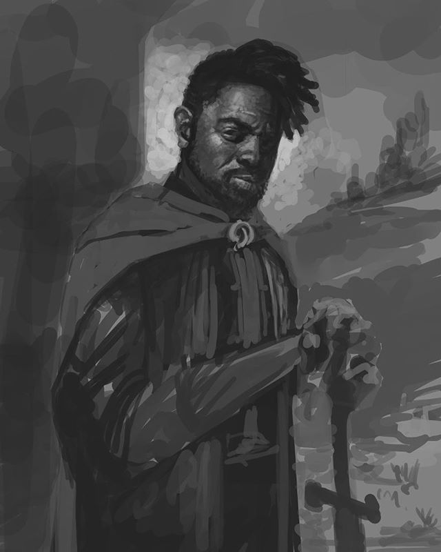 Progress from tonight's twitch stream! . . www.driftwoodarchives.com . . #photoshop #painting #conceptart #fantasyart #illustration #dark #darkart #fantasy #instaart #instaartist #oc #driftwoodarchives #twitch #art #artwork #digitalart #ranger #dungeonsanddragons #5e
