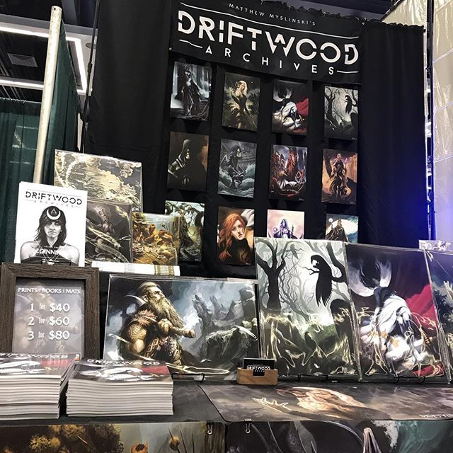 EMERALD CITY COMIC CON. Come through if you are in the area!  #driftwoodarchives #darkfantasy #dark #ecc #emerald #emeraldcity #emeraldcitycomicon #emeraldcitycomiccon #dungeonsanddragons