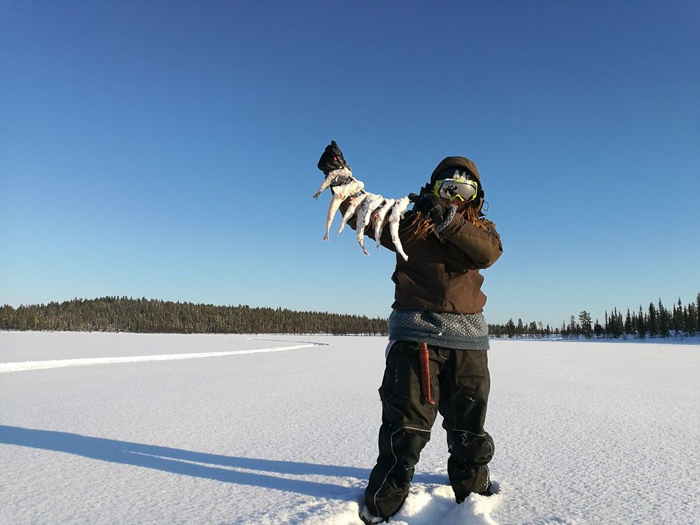- ice fishing