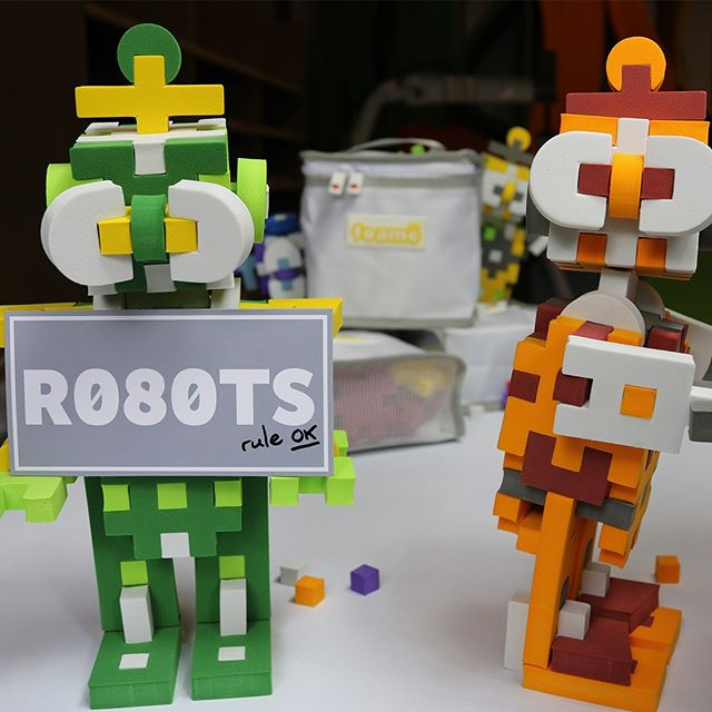Oran & Gren... Innocent?! THE.R080TS.ARE.COMING #r080ts #robot #toys #toystagram #robotics #maker #customtoy #limitededition  foame.co/r080ts