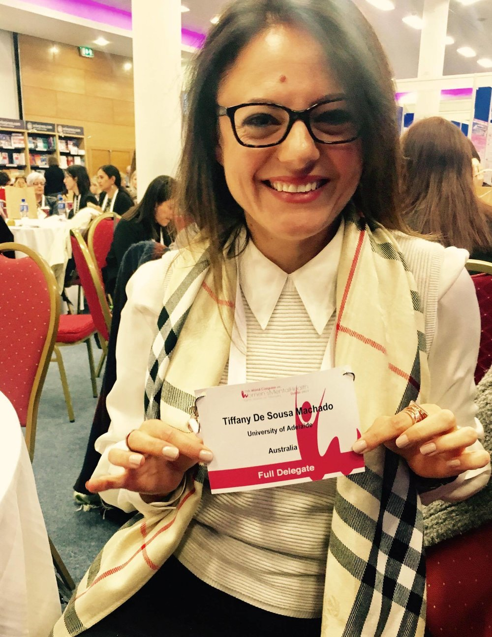 At the 7th world congress on women's mental health, Dublin, Ireland.