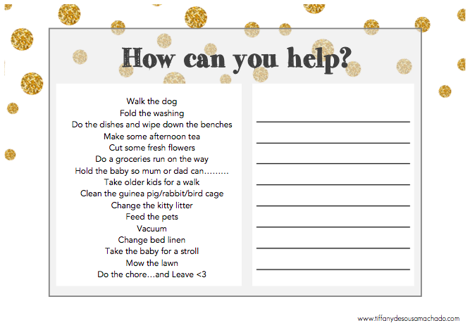 HOW CAN YOU HELP?  - FLIER - Landscape (Black/Gold)