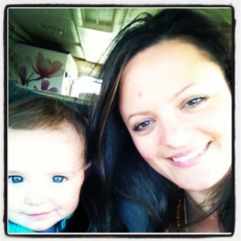 Faith and I in the car