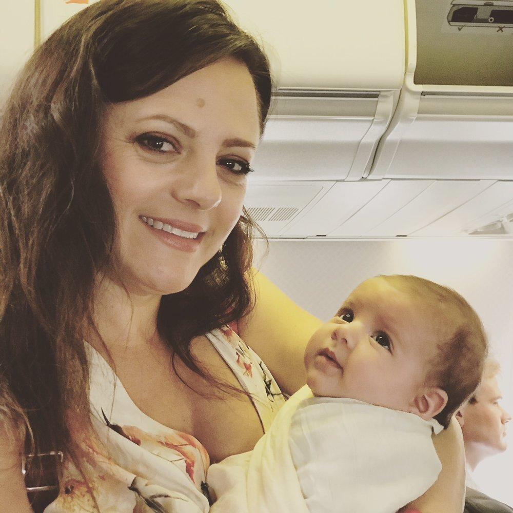 Rumi's first flight at 10 weeks old. Beating her older sister by 2 weeks...