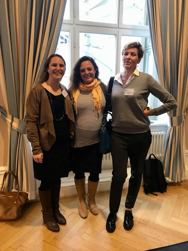My host in Sweden, Prof Inger Poroma Sundstrom and the lovely Alkistis at the Nordic Marce Conference, Stockholm