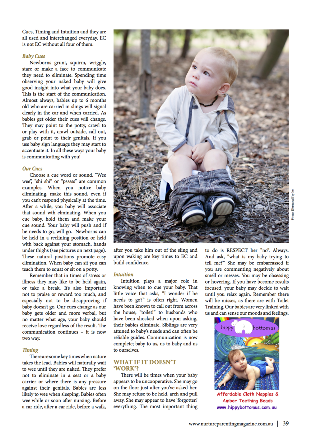 NURTURE Parenting Magazine - Elimination Communication
