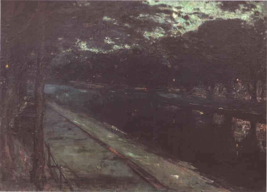 Lesser Ury Abend am Landwehrkanal 1889