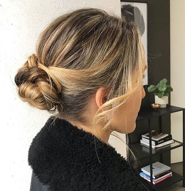 Twisted updo on the beautiful @ggfirth styled by @hannahyounghair  #updo #hairstyle #hairstyling #hairstylist #eventhair #behindthechair #blowdry #curls #southmelbournesalon #southmelbournehairdresser #spencerandco