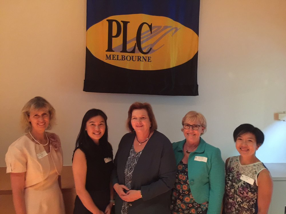 A speaking engagement with colleagues at PLC Melbourne in February 2018.