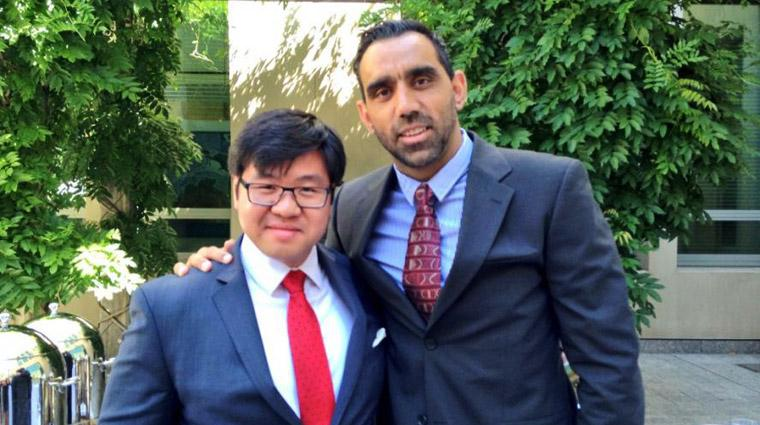 Tim Soutphommasane, Race Discrimination Commissioner, who is working together with AFL sports hero and Australian of the Year Adam Goodes to address racism and achieve a fair go for all Australians