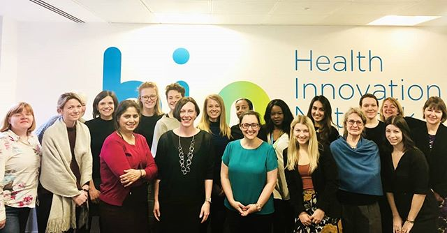 Celebrating International Womens Day at the Health Innovation Network 🤗 #iwd2018 #girlpower #gradaintohealth #international #womens #day #london #nhs