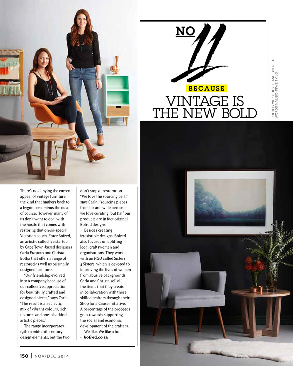 VISI Magazine. 2014. Bofred Feature