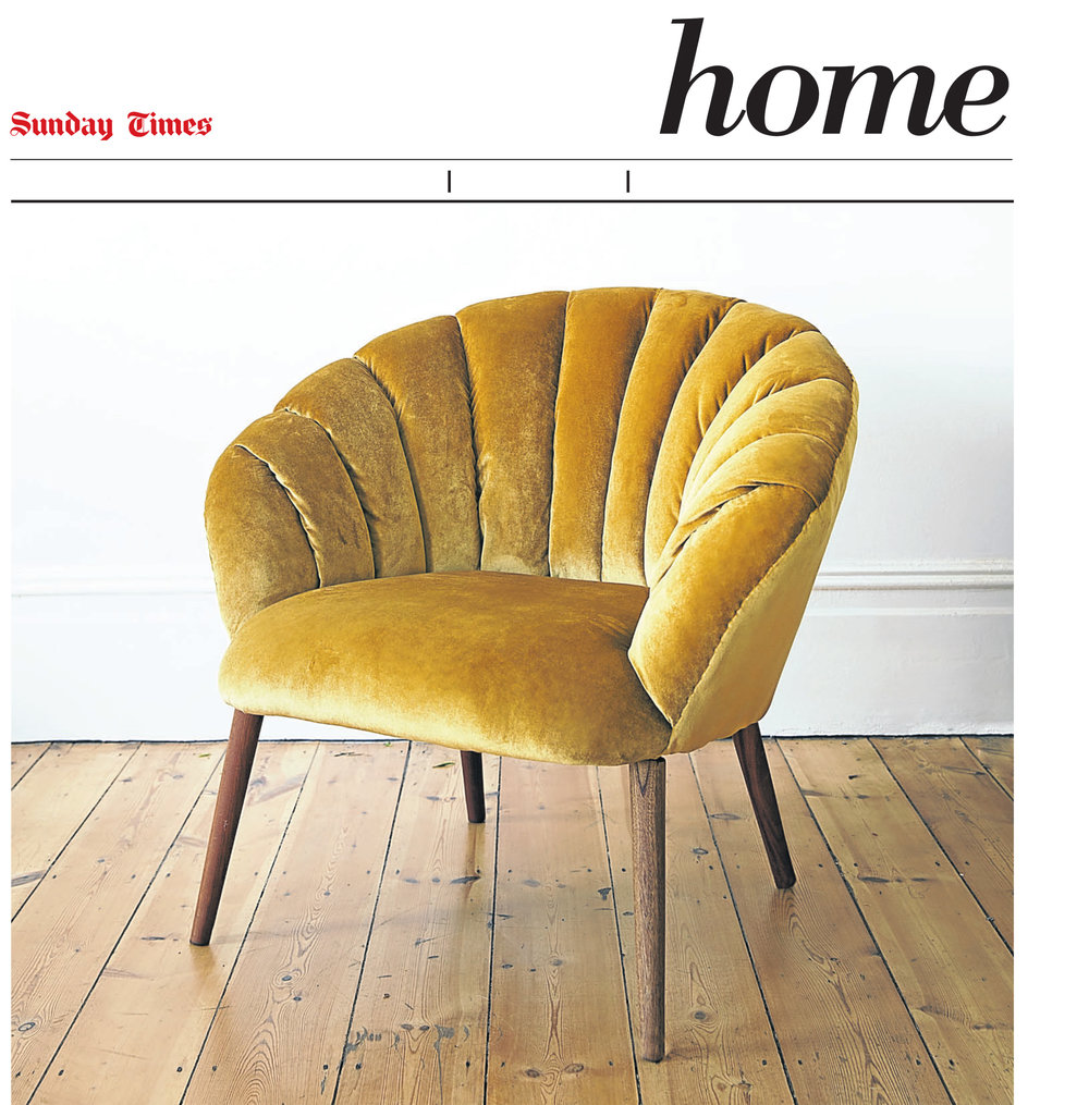 Sunday Times Home. 2016. Sandy Chair / Restored furniture.