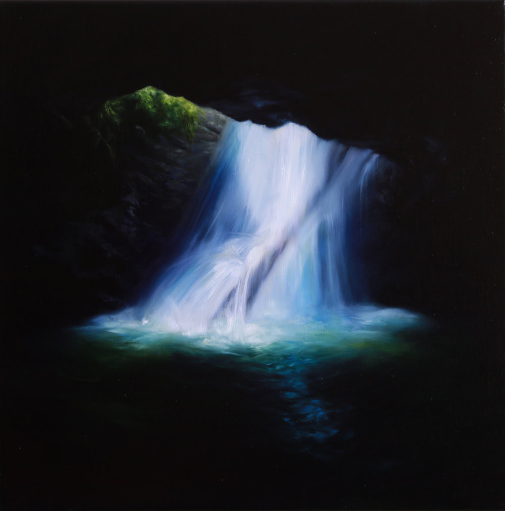 Bridge Claire_Cascade II 2016_oil on linen_40x40cm.jpg
