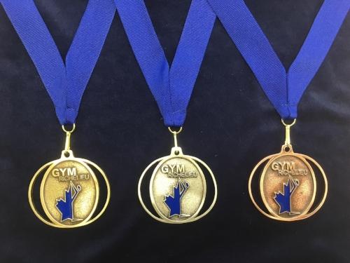 Médailles de la première invitation Division 3 du Gym-Richelieu 2017