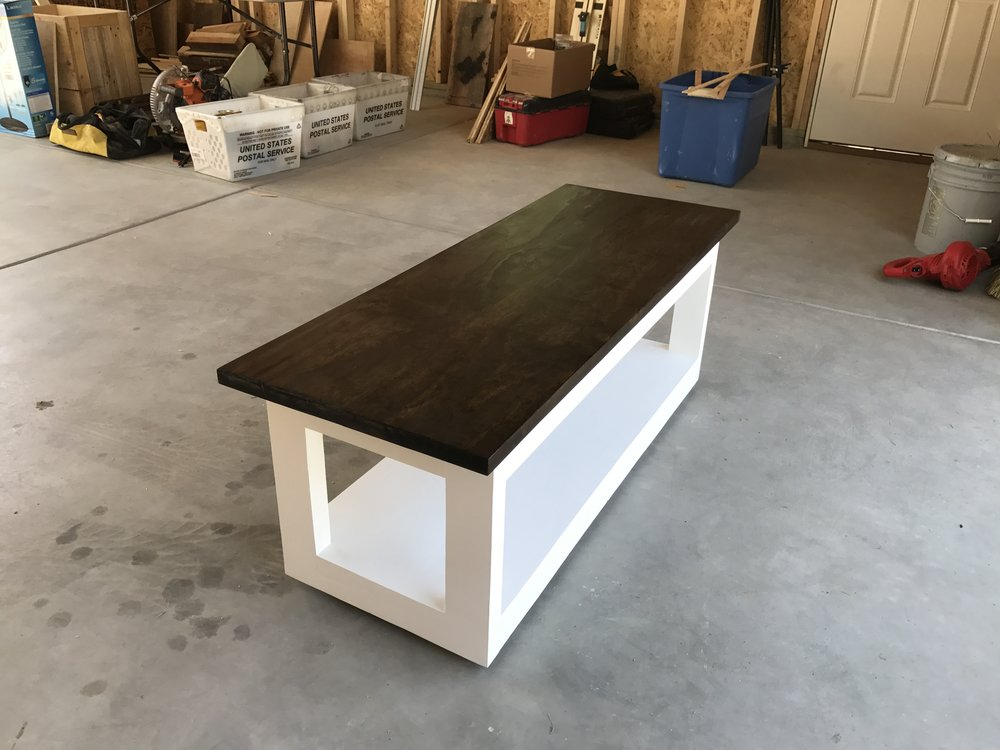 Reclaimed wood coffee table.