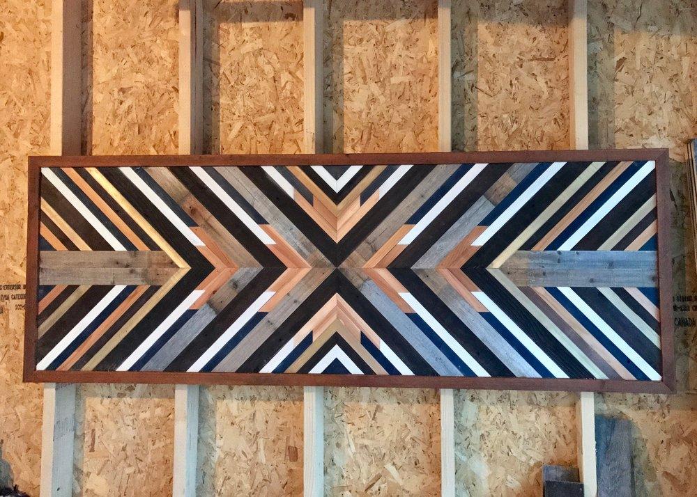 Large reclaimed wood wall piece.