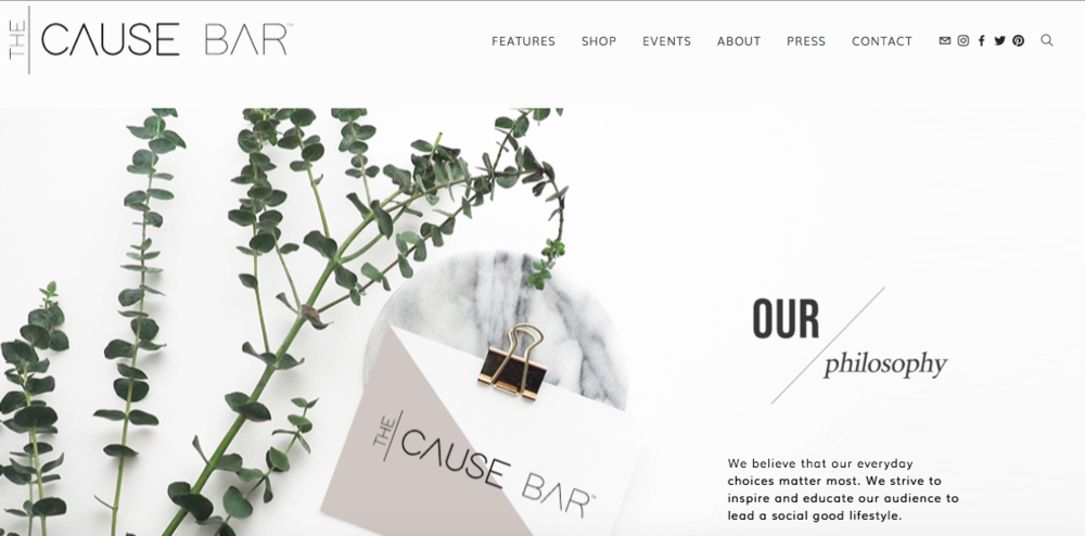 www.thecausebar.com launched April 2018