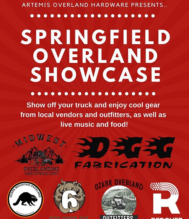 We are so excited to be a part of the Springfield Overland Showcase! #rerover #springmooverland #landrover #overland #adventureawaits