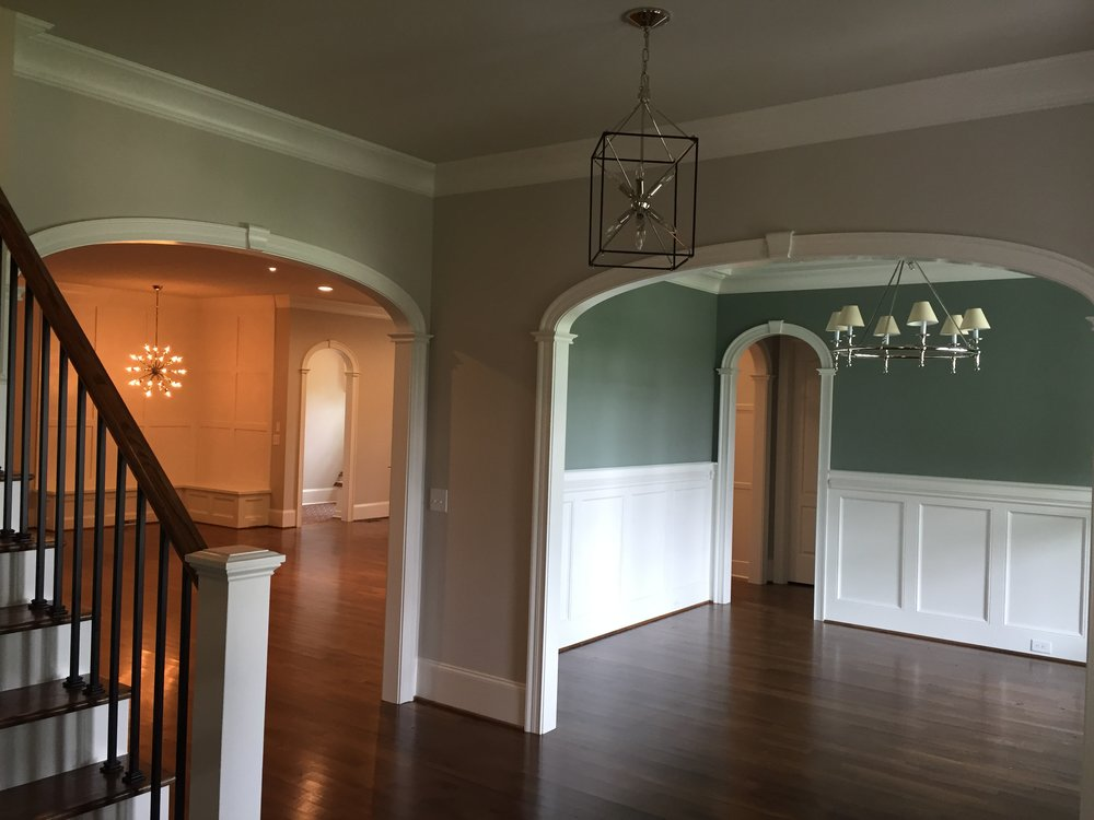 "elliptical arched openings - foyer, dining, mud room - 3 1/2"" wide ez arch top"