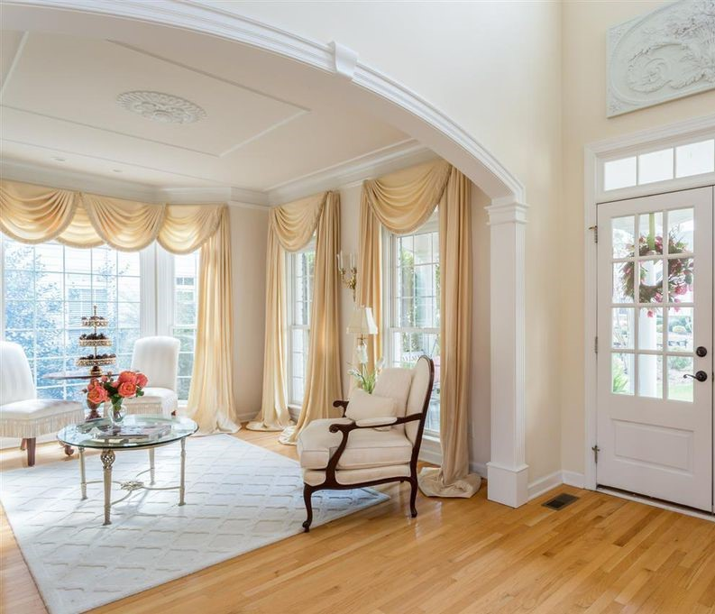 large archway opening between foyer and formal living room - segment style model a solid wood kit