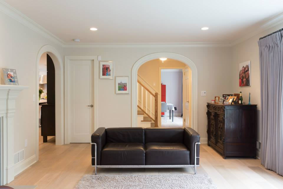 """Continuous Moulding Arch Kits with a 5"""" casing detail - clean and modern Arch Doorway design - Photo by Kraftmaster Renovations (www.kmrenovate.com)"""