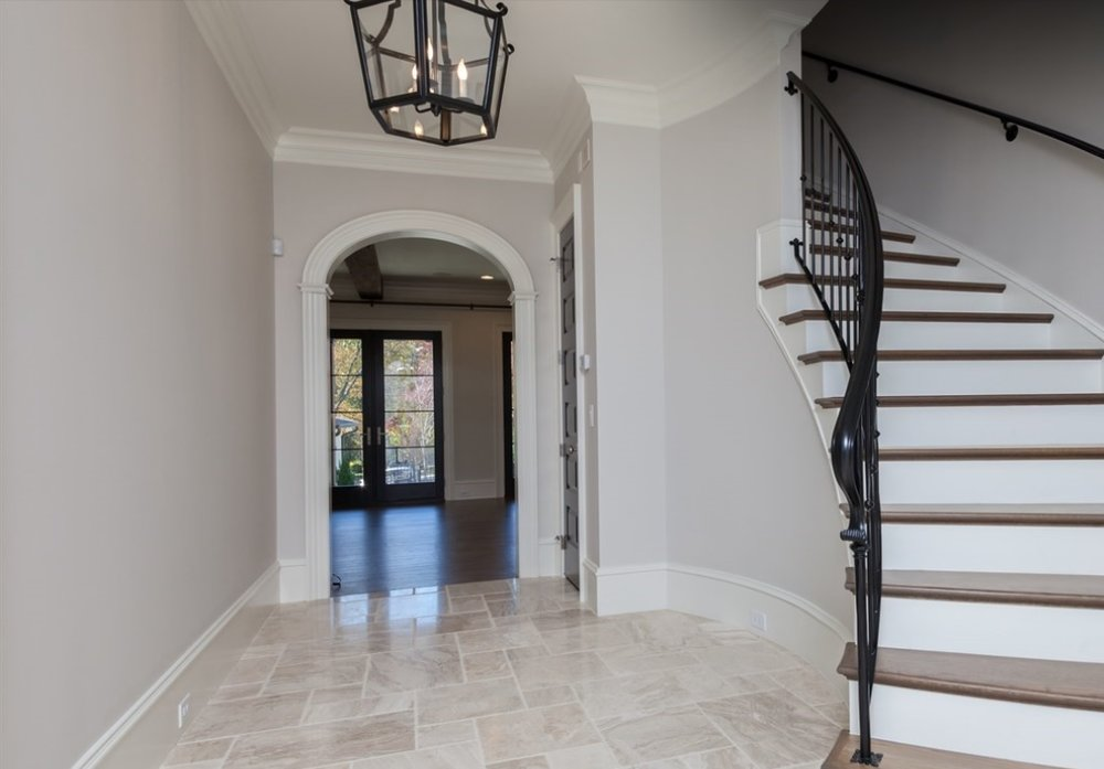 """Arched Entryway in foyer to living room - Wood Arch Trim Kit - 5"""" casing width"""