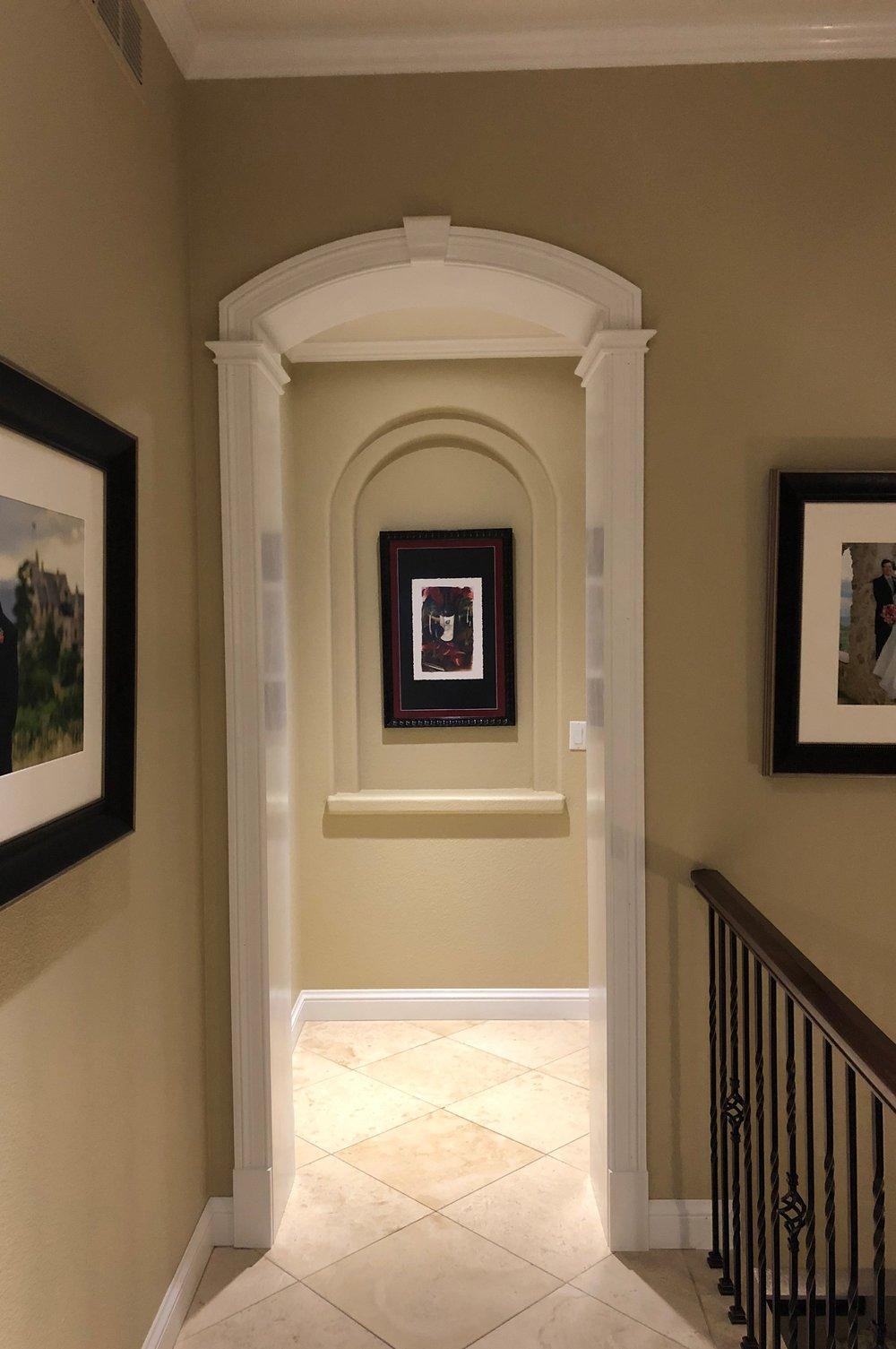 Hallway arch trim kit