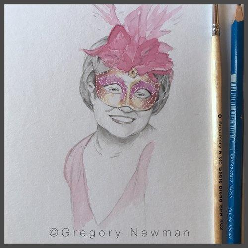 Graphite and Watercolor